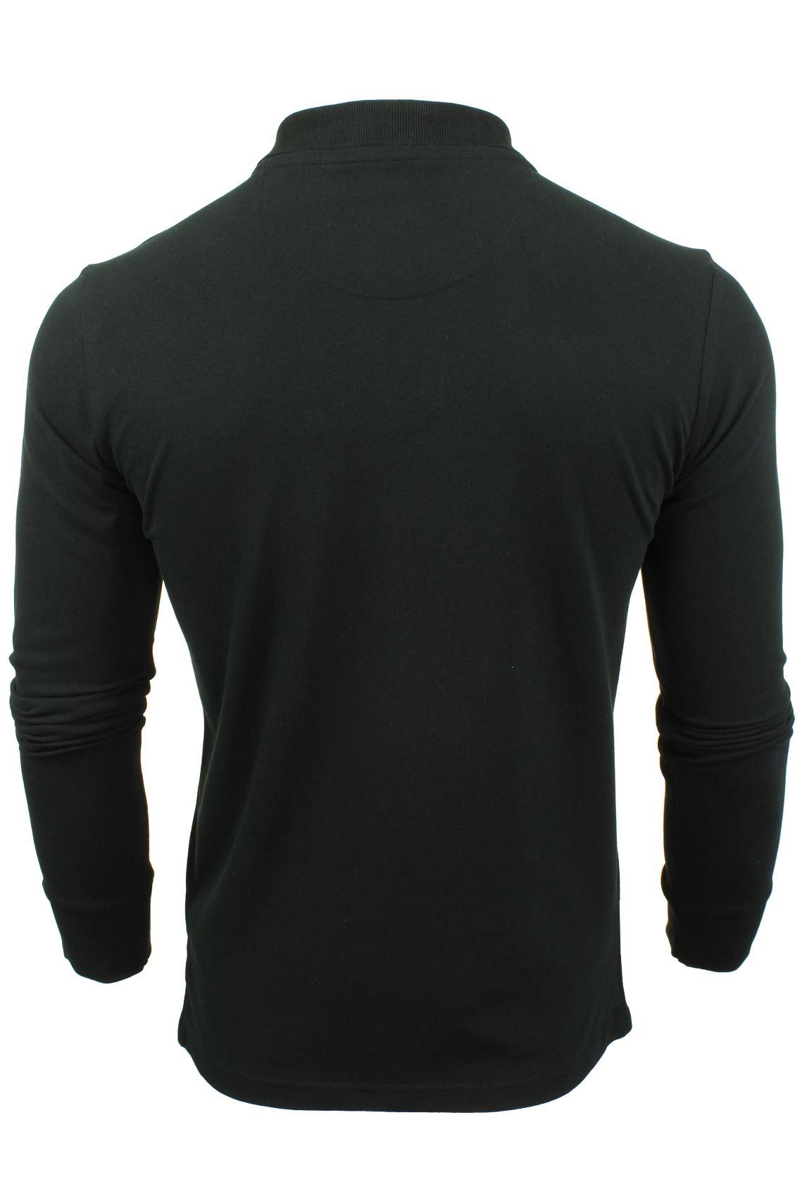 Camiseta-Polo-Para-Hombre-Por-Xact-pique-de-manga-larga miniatura 5