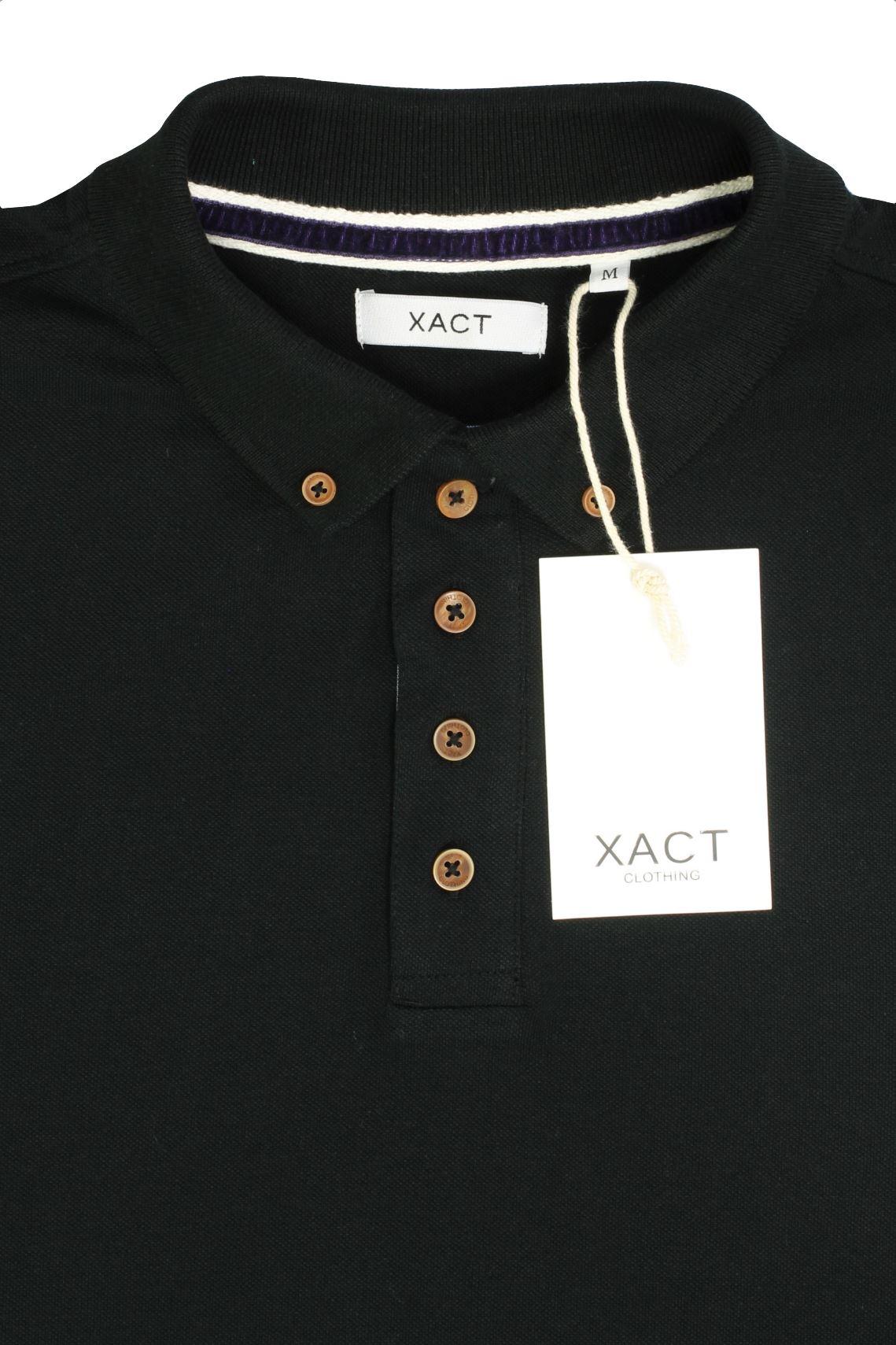 Camiseta-Polo-Para-Hombre-Por-Xact-pique-de-manga-larga miniatura 6