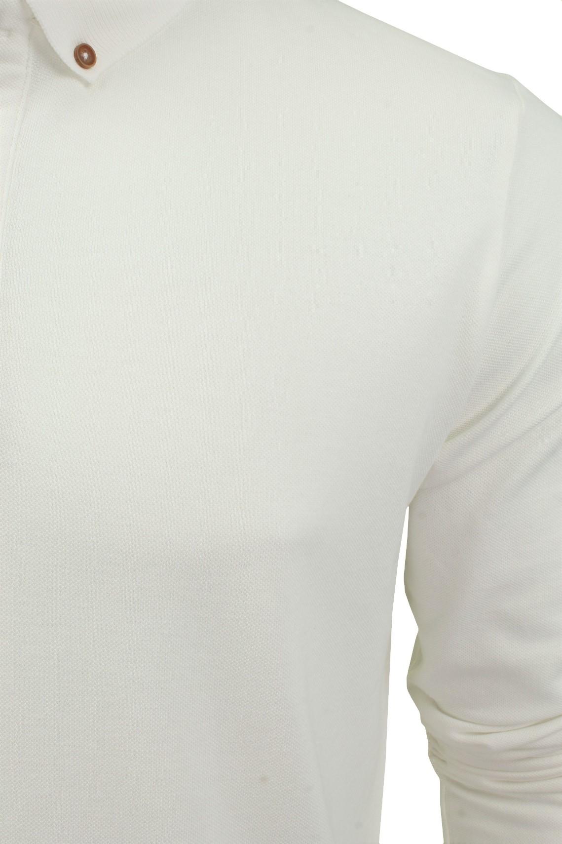 Camiseta-Polo-Para-Hombre-Por-Xact-pique-de-manga-larga miniatura 8
