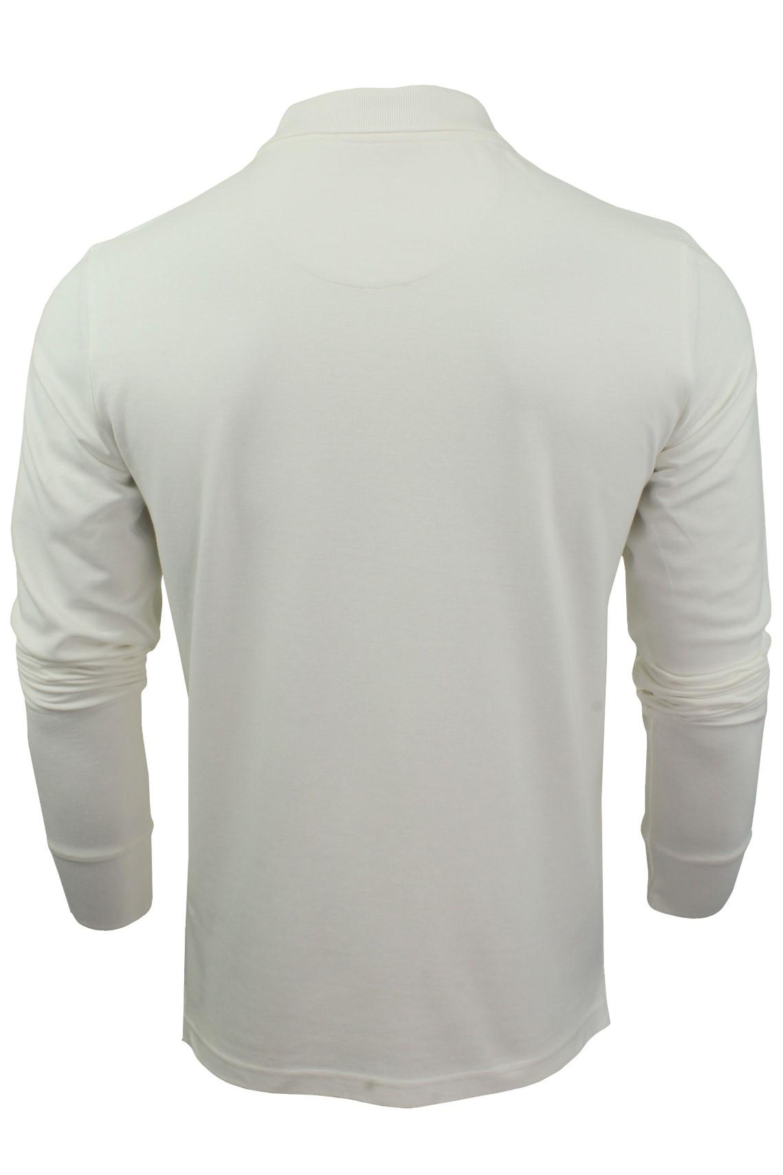 Camiseta-Polo-Para-Hombre-Por-Xact-pique-de-manga-larga miniatura 9