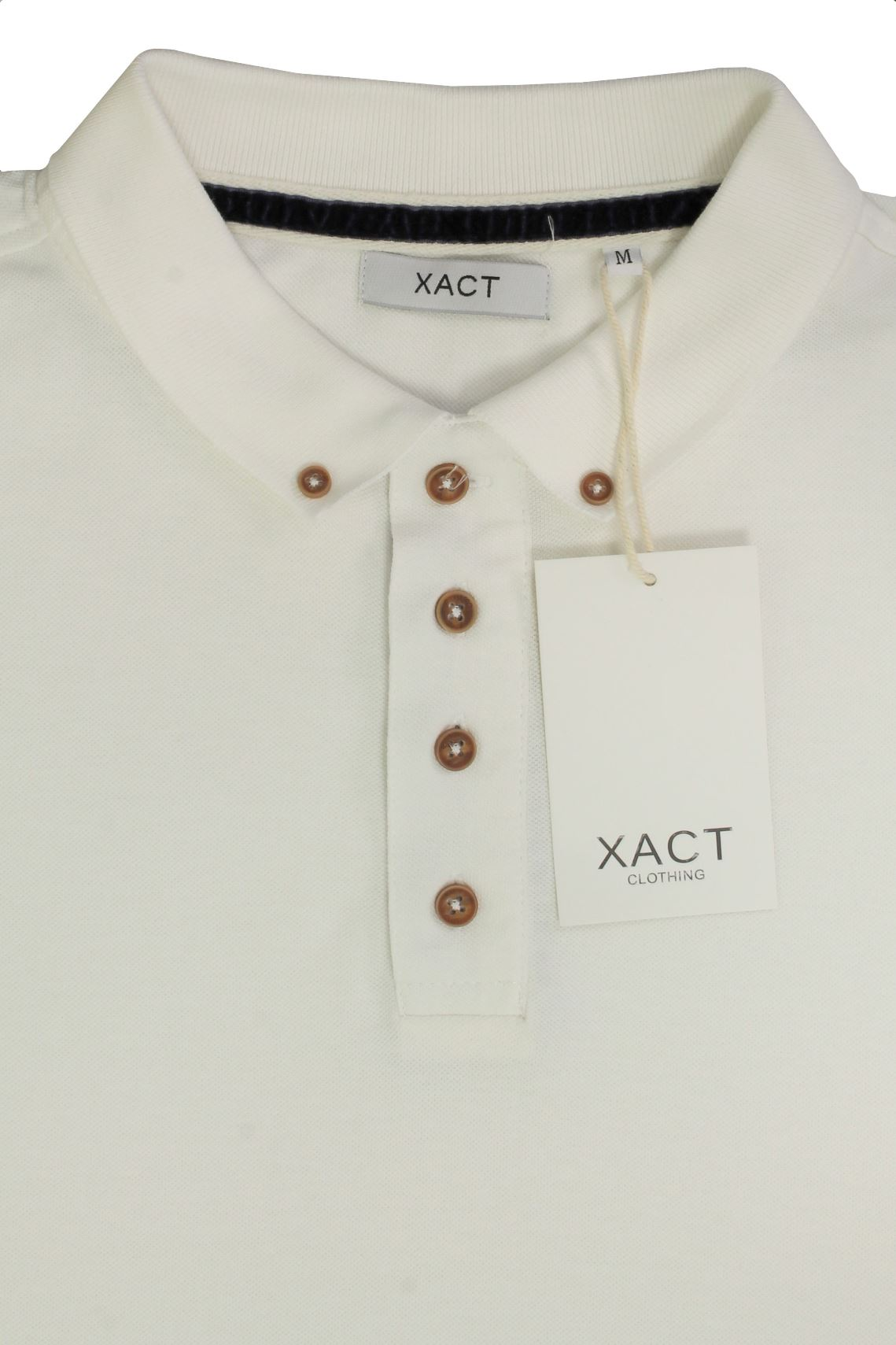 Camiseta-Polo-Para-Hombre-Por-Xact-pique-de-manga-larga miniatura 10