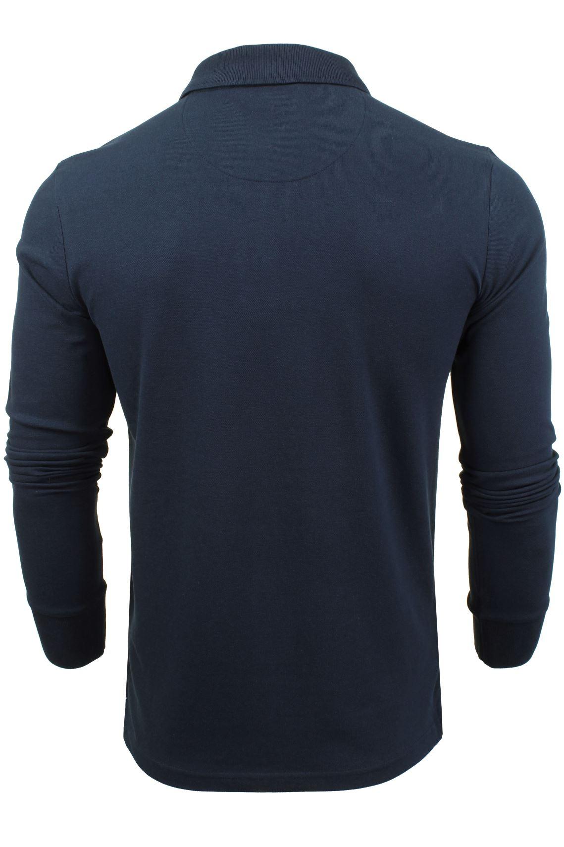 Camiseta-Polo-Para-Hombre-Por-Xact-pique-de-manga-larga miniatura 13