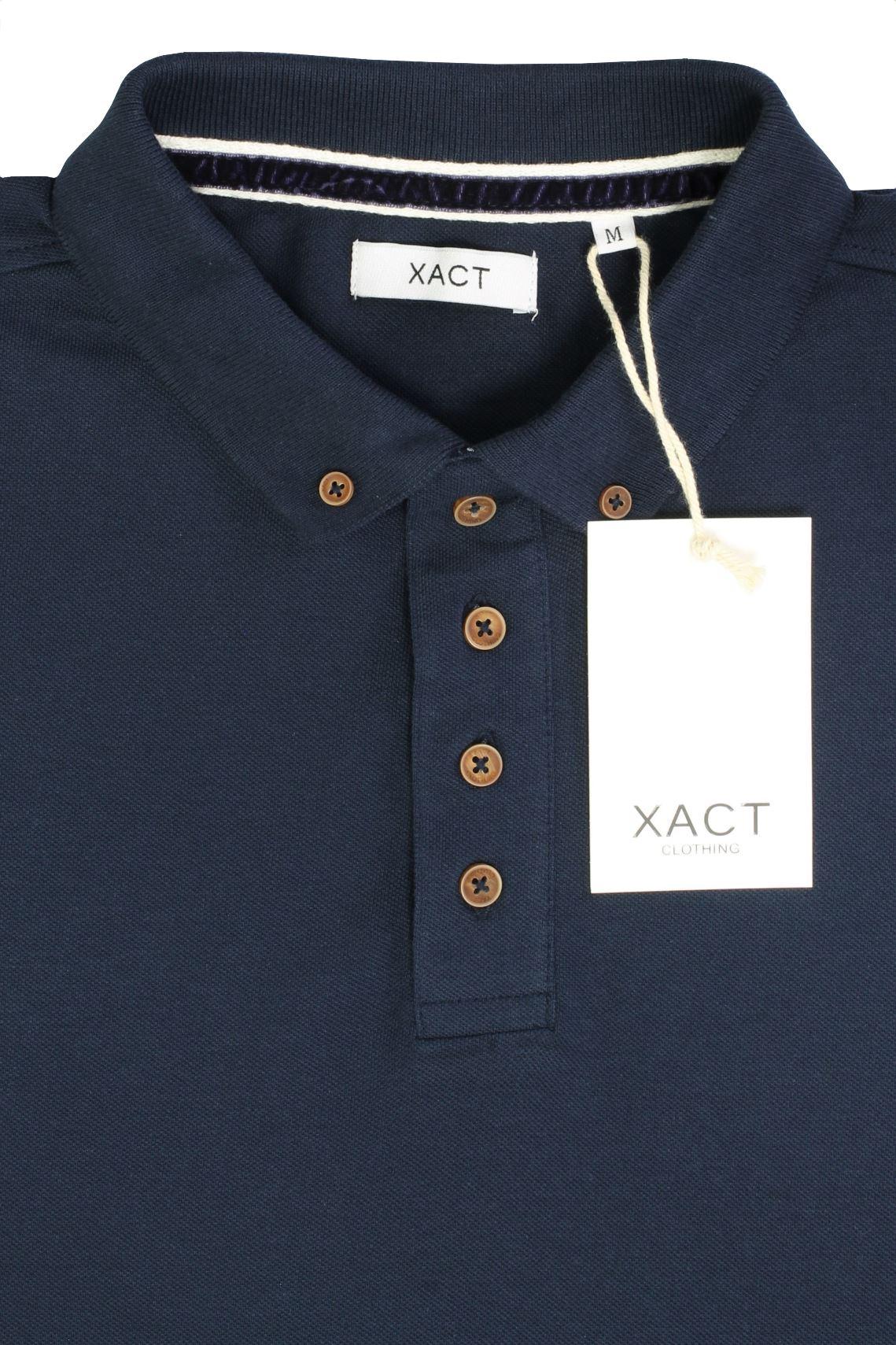 Camiseta-Polo-Para-Hombre-Por-Xact-pique-de-manga-larga miniatura 14