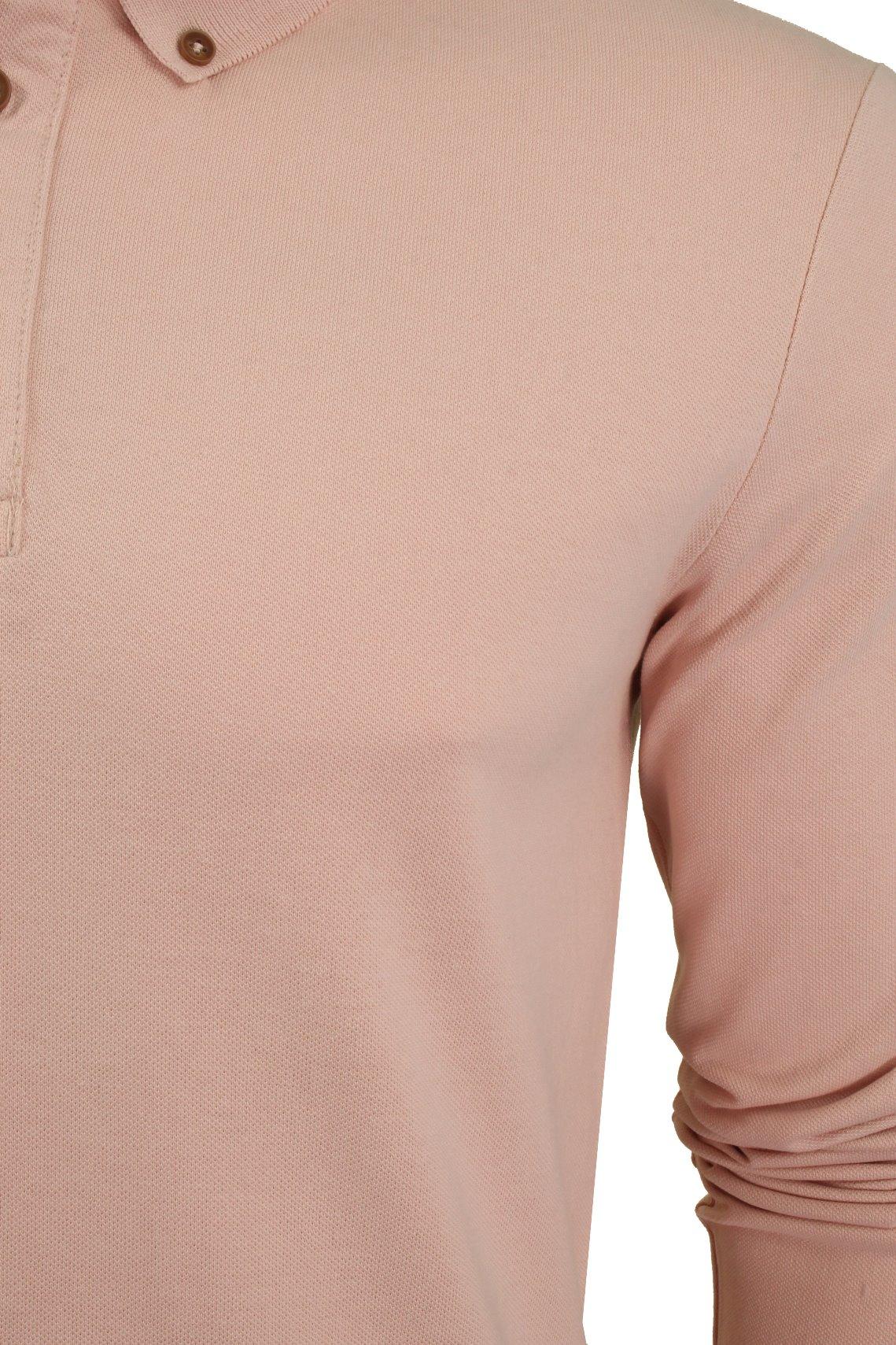 Camiseta-Polo-Para-Hombre-Por-Xact-pique-de-manga-larga miniatura 16