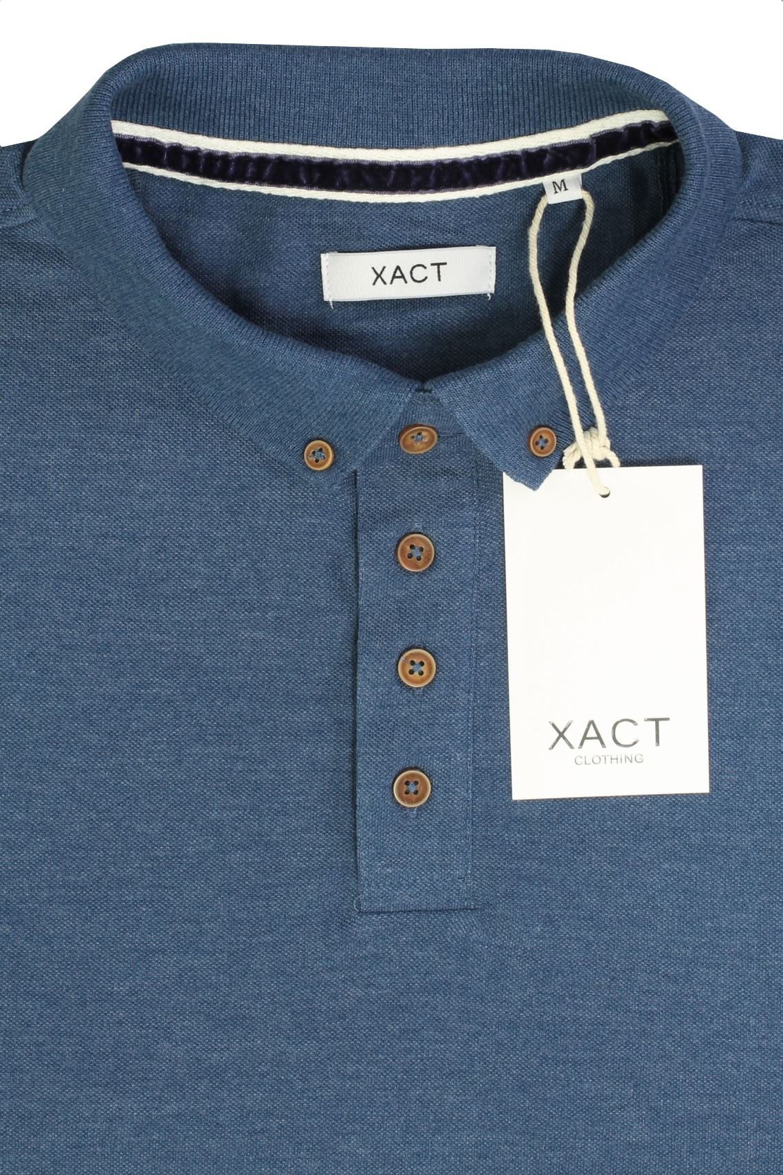 Camiseta-Polo-Para-Hombre-Por-Xact-pique-de-manga-larga miniatura 21