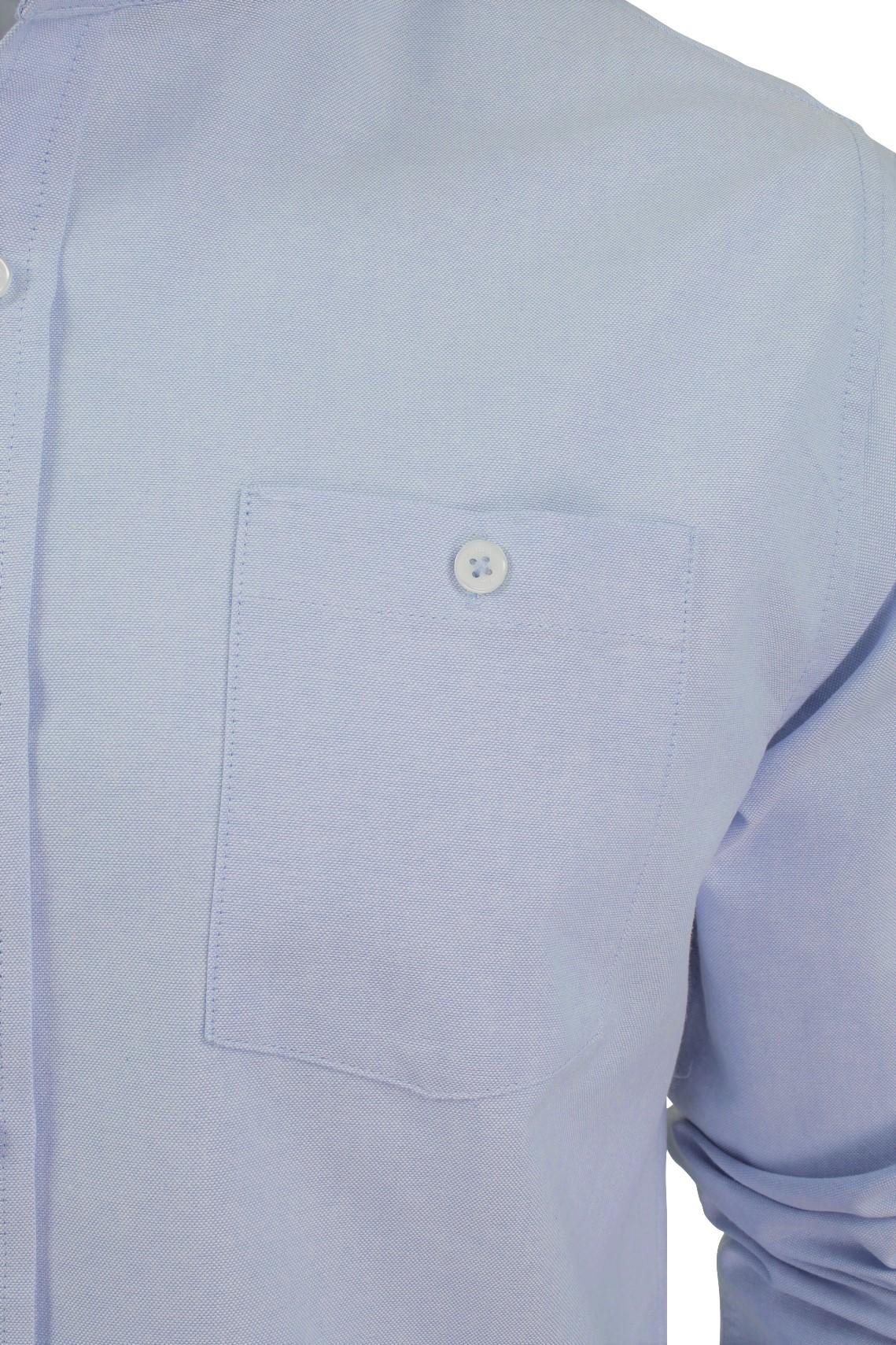 Xact-Mens-Grandad-Collar-Nehru-Oxford-de-Superdry-de-manga-larga-039-Augusto-039-s miniatura 4