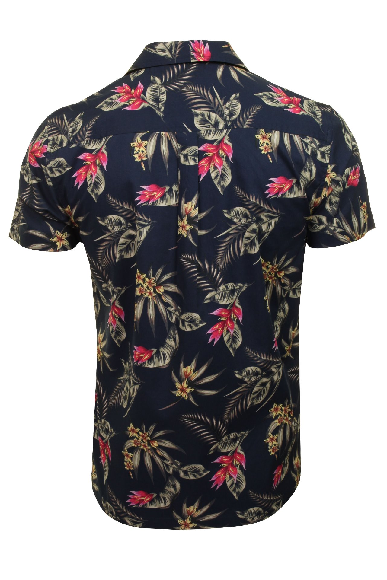 Hommes-Xact-Floral-Chemise-Hawaienne-a-Manches-Courtes miniature 5