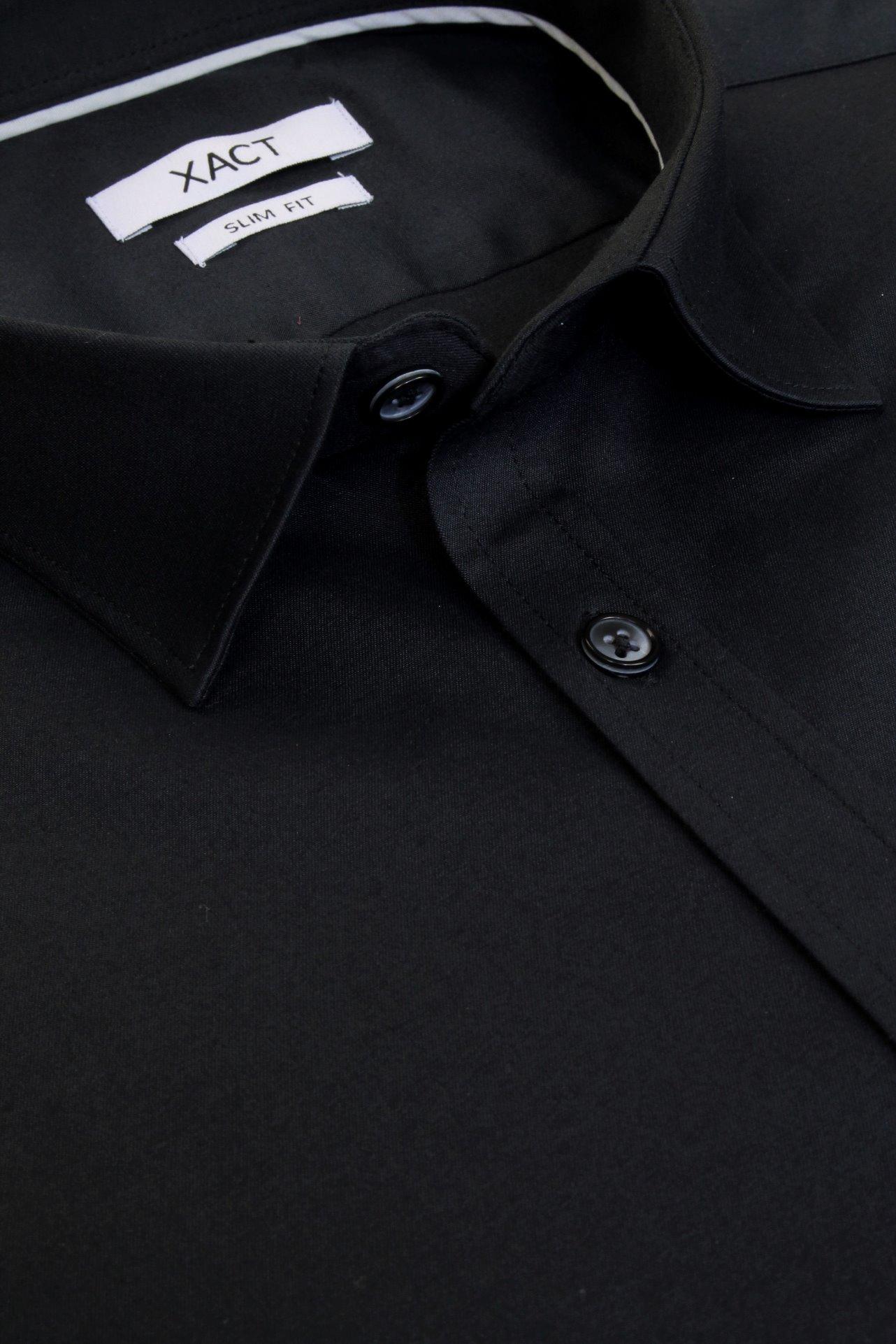 Xact-Mens-Long-Sleeved-Poplin-Stretch-Shirt-Slim-Fit miniatuur 7