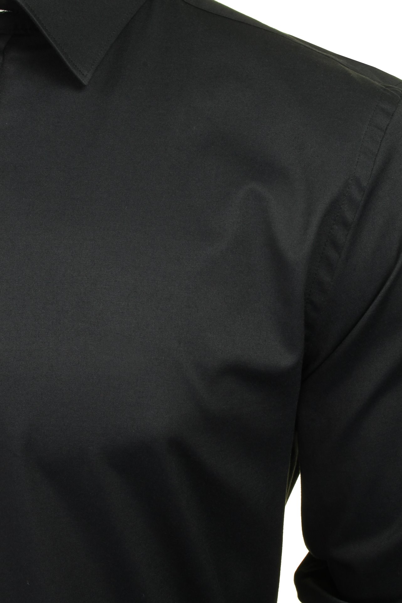 Xact-Mens-Long-Sleeved-Poplin-Stretch-Shirt-Slim-Fit miniatuur 5