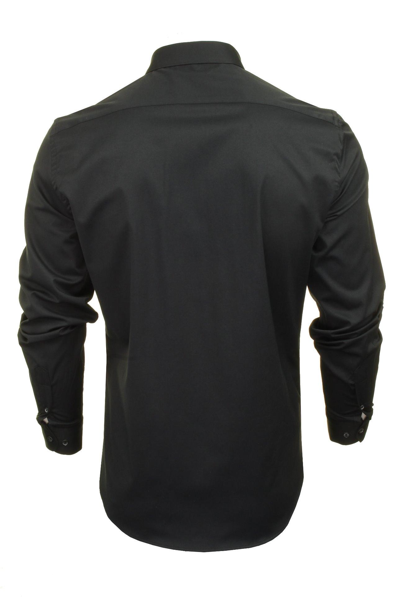 Xact-Mens-Long-Sleeved-Poplin-Stretch-Shirt-Slim-Fit miniatuur 6