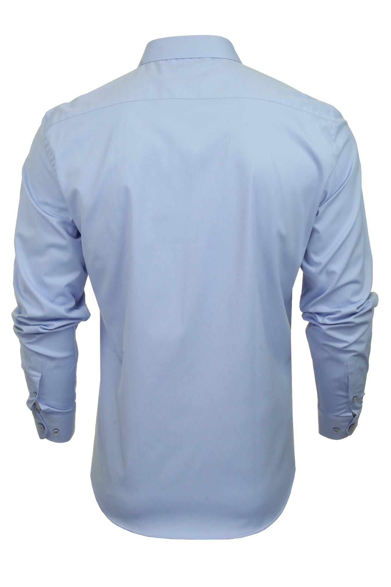 Xact-Mens-Long-Sleeved-Poplin-Stretch-Shirt-Slim-Fit miniatuur 11