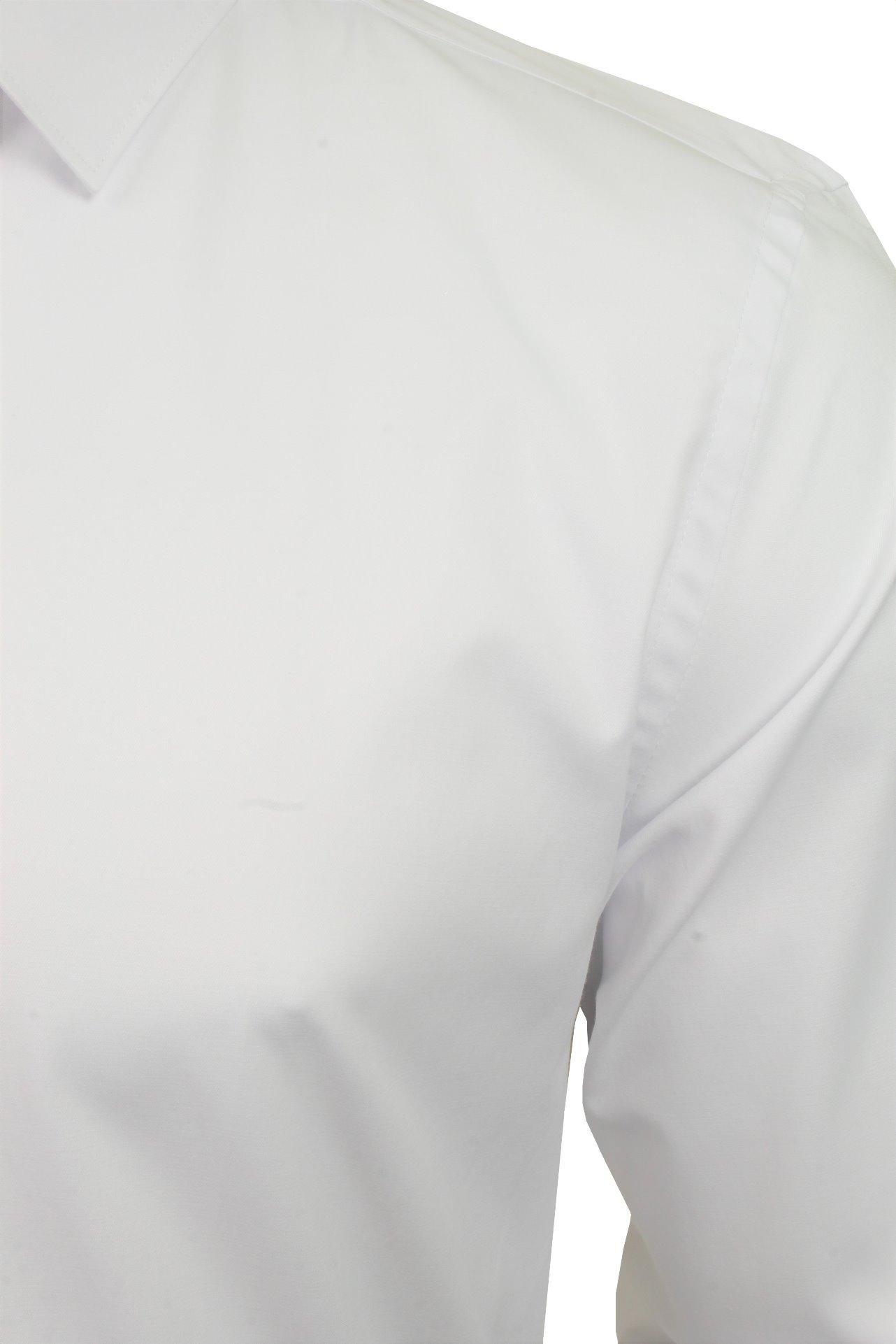 Xact-Mens-Long-Sleeved-Poplin-Stretch-Shirt-Slim-Fit miniatuur 13