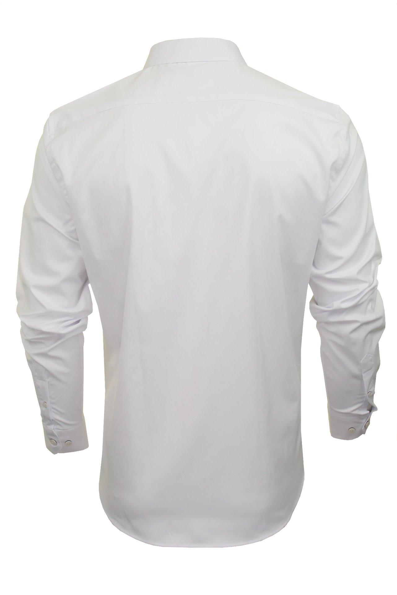 Xact-Mens-Long-Sleeved-Poplin-Stretch-Shirt-Slim-Fit miniatuur 14
