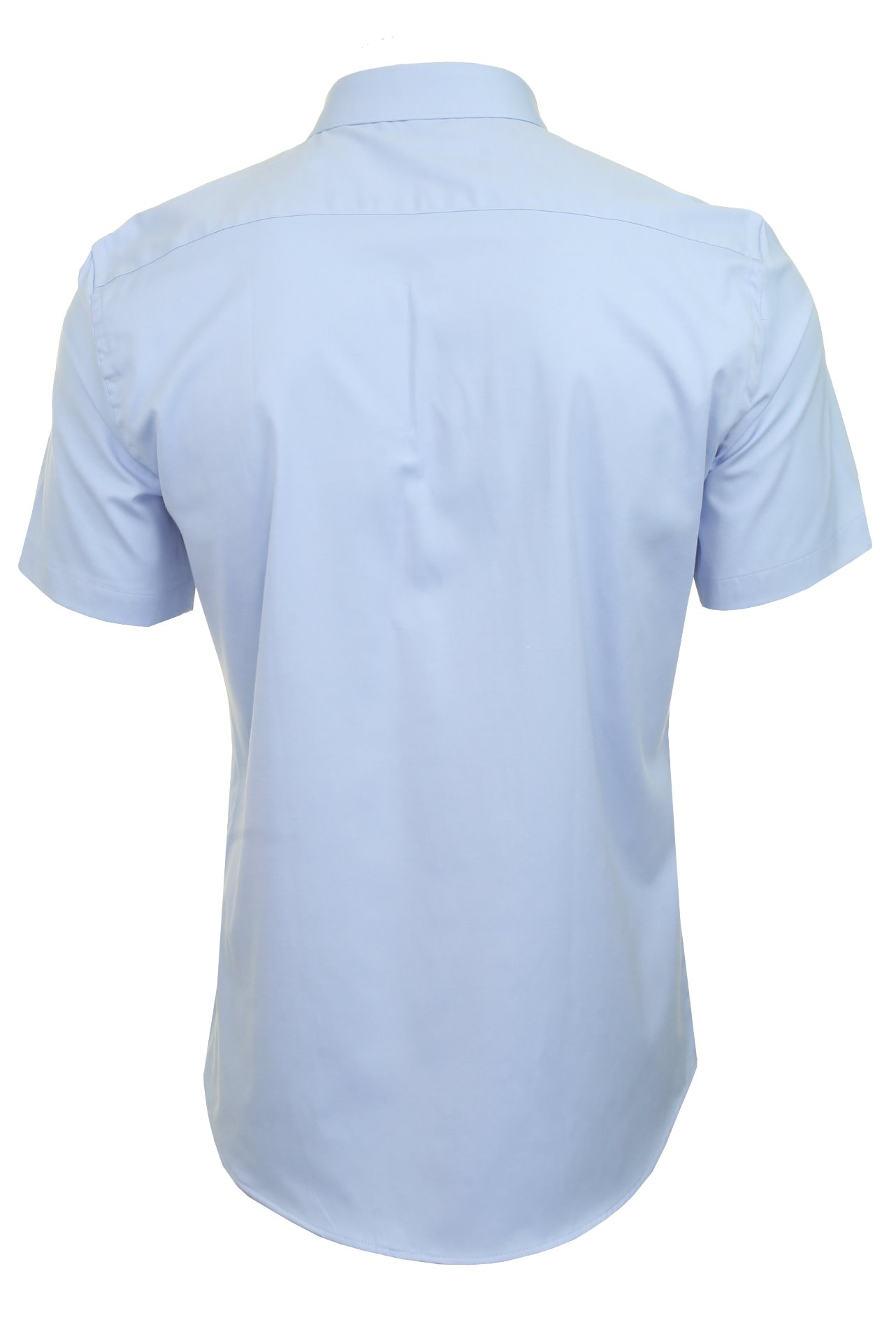 Xact-para-Hombre-de-Manga-Corta-Camisa-Slim-Fit-Popelin-del-estiramiento miniatura 10