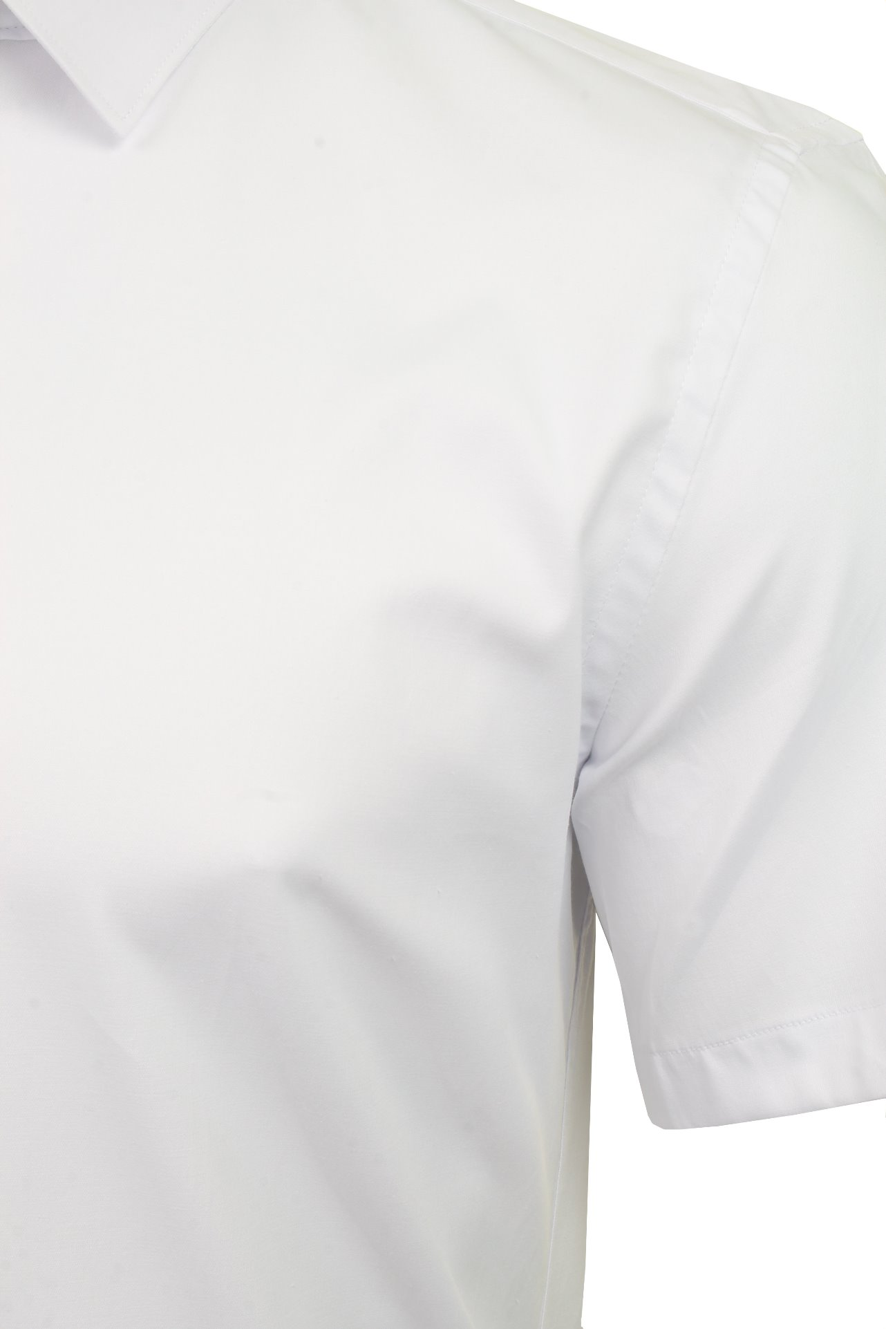 Xact-para-Hombre-de-Manga-Corta-Camisa-Slim-Fit-Popelin-del-estiramiento miniatura 12