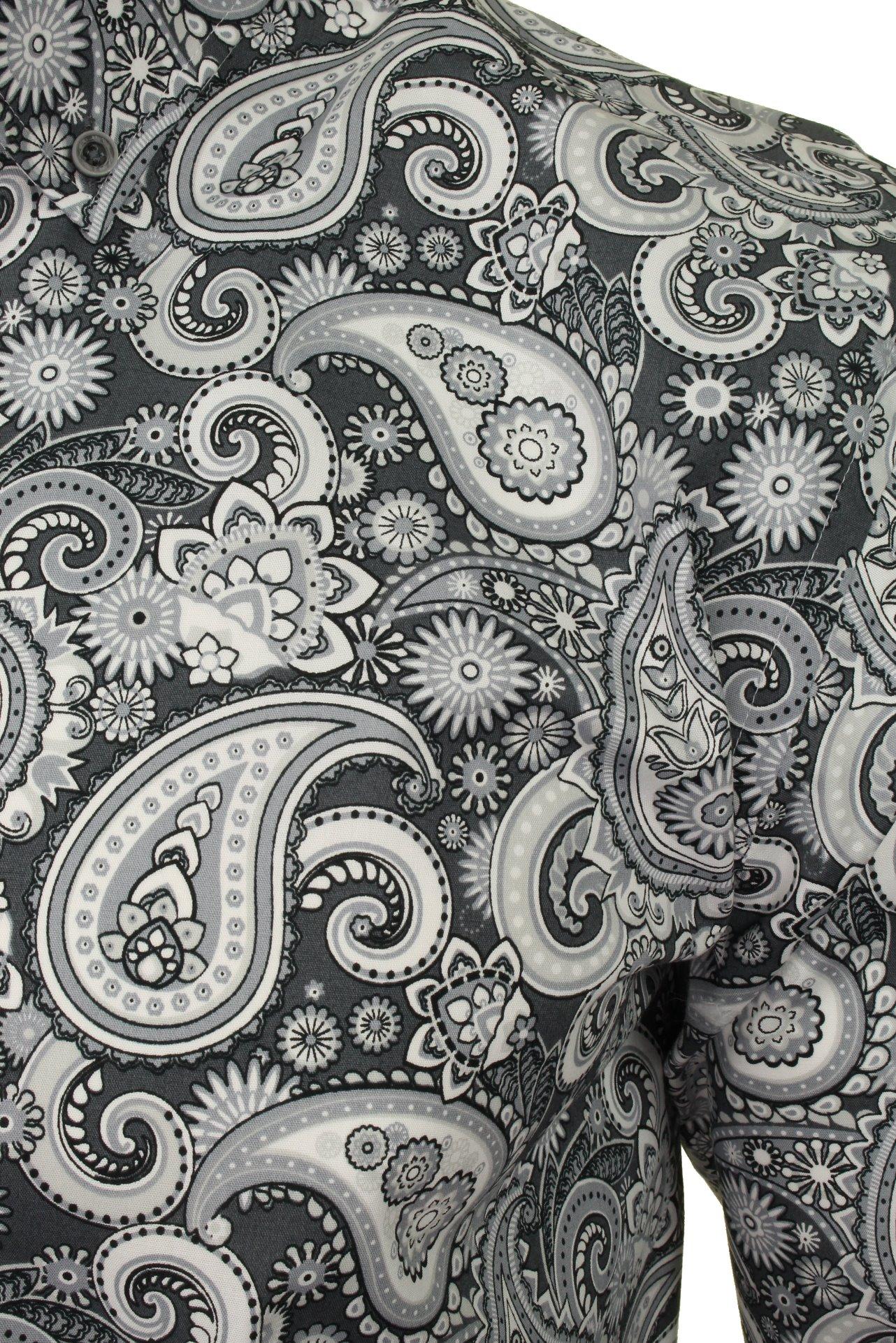 Xact-Mens-Long-Sleeved-Paisley-Shirt-Slim-Fit thumbnail 16