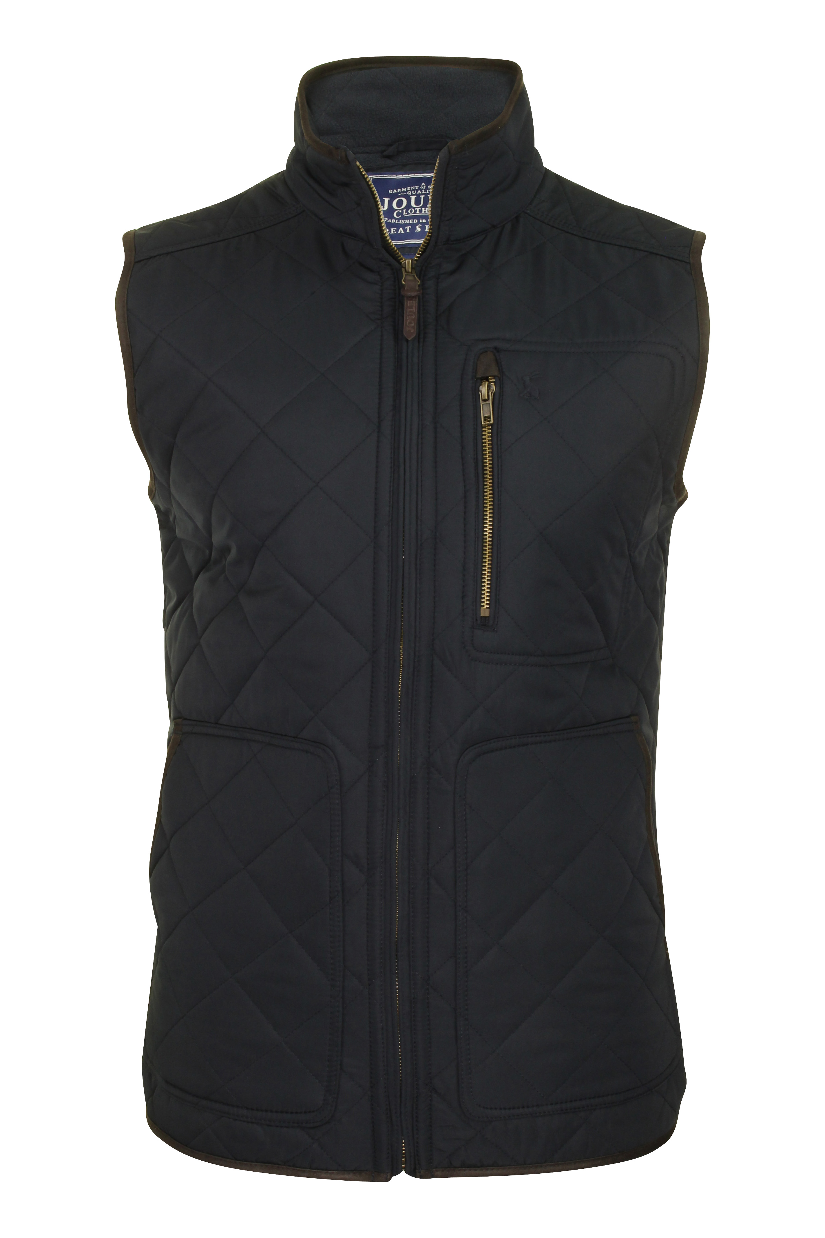 Joules Quilted 'halesworth' Lined Gilet Mens Navy Bodywarmer Fleece Marine rwx4rCq1