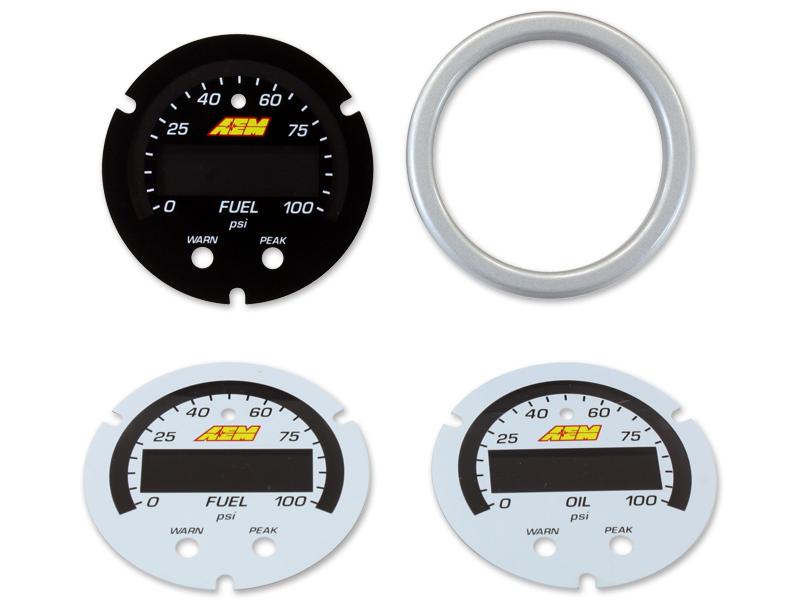 "AEM 30-0301 X-Series 100 PSI//7BAR Oil//Fuel Pressure Gauge 2-1//16/"" 52mm"