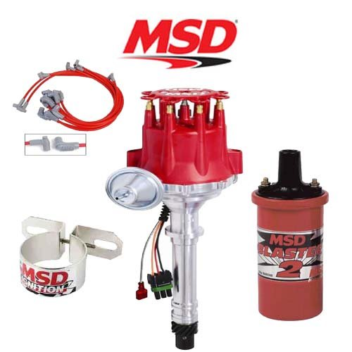 MSD 9900 Ignition Complete Kit Ready to Run Distributor/Wires/Coil/Bracket - SBC  sc 1 st  eBay : msd ready to run wiring - yogabreezes.com