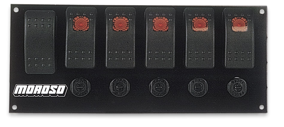 moroso 74180 flat mount fused rocker switch panel start button w 5 rh ebay com Moroso Decals moroso switch panel wiring