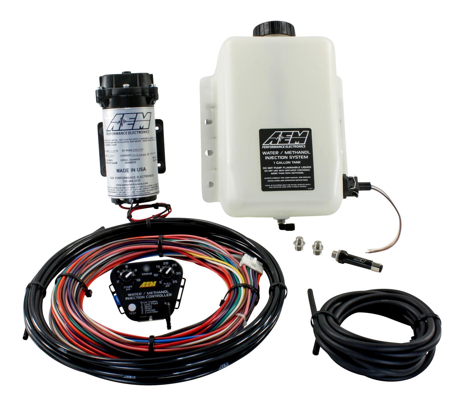 AEM Electronics 30-3300 Universal Water/Methanol Injection Kit - 1 Gallon  Tank