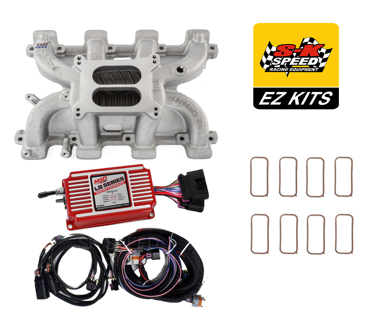 Msd 6014 Wiring Harness Detailed Schematics Diagram 6ls Ls Cathedral Carb Conversion Kit Edelbrock Performer Intake Ford 6al