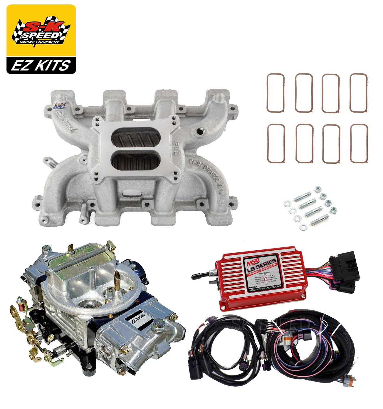 Details about LS1 Carb Intake Kit - Edelbrock RPM Intake/MSD 6014  Ignition/Proform 750 Carb