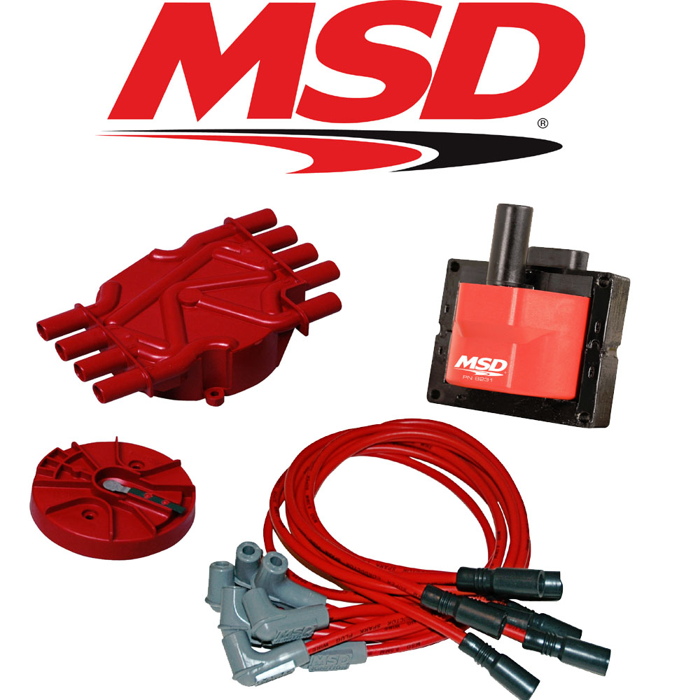Msd Ignition Tuneup Kit 96 98 Chevy Gmc Vortec 50 57l Cap Rotor Coil Wiring Coils Wires