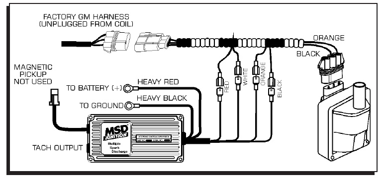 Vortec 454 Alternator Wiring Diagram : Msd streetfire ignition kit gm truck vortec
