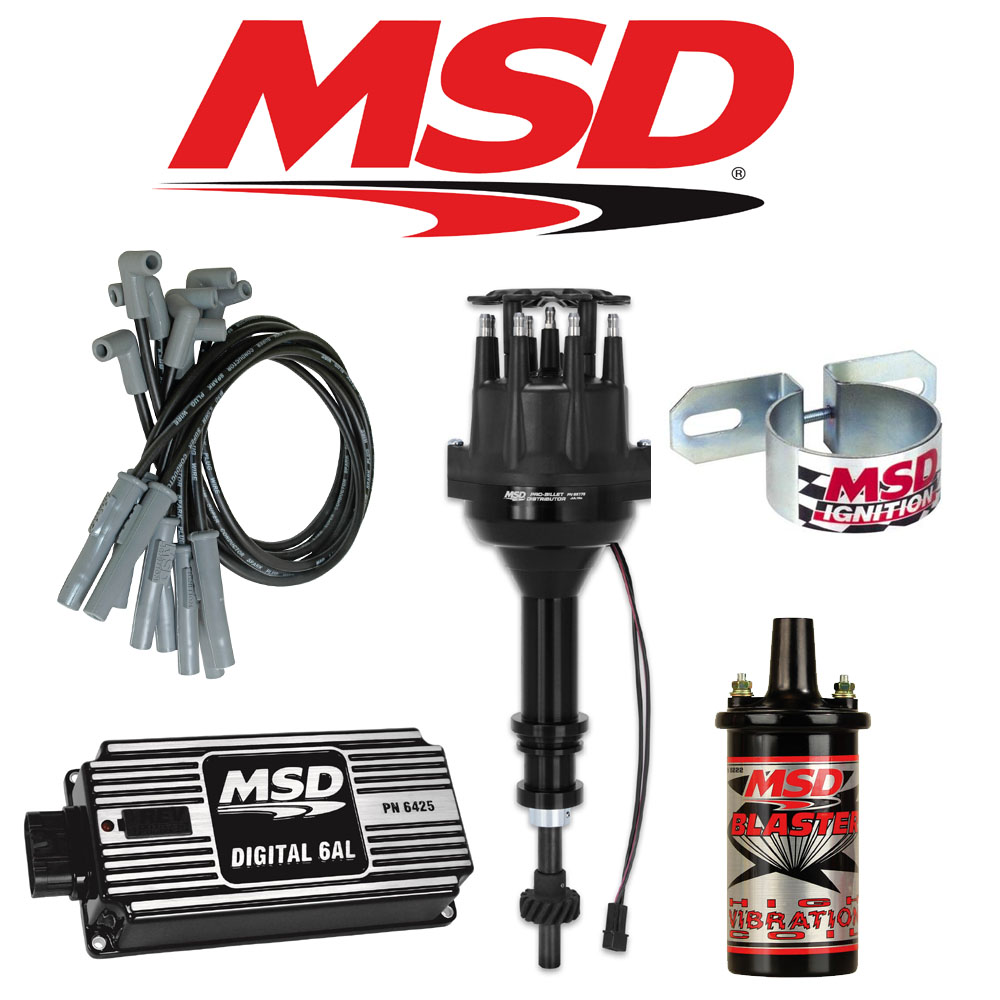 MSD BLACK Ignition Kit Digital 6AL/Distributor/Wires/Coil Ford 289/302  Small Cap