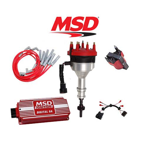 msd ignition kit - digital 6a/distributor/wires/coil ... msd engine wiring harness wiring a msd 7530 wiring harness
