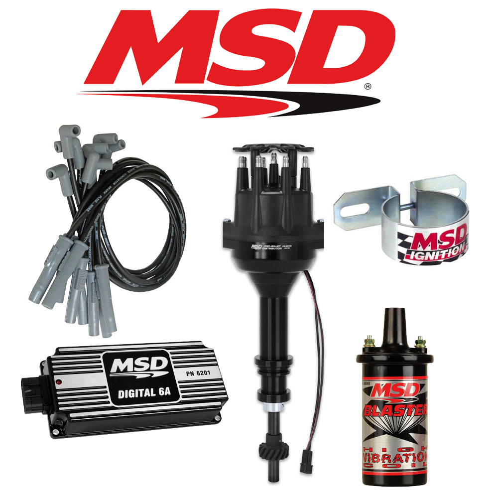 Msd Ignition Kit Black Digital 6a Distributor Wires Coil Ford 351c M Wiring For 2 Cylinder Engine 400 429 460