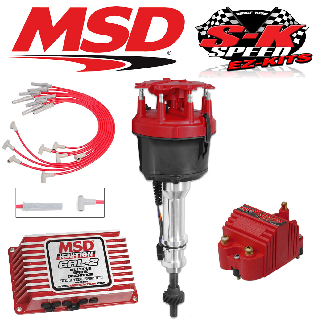 MSD 9164 Ignition Kit 6AL-2/Distributor/Wires/Coil Ford 351C-M/400/429/460