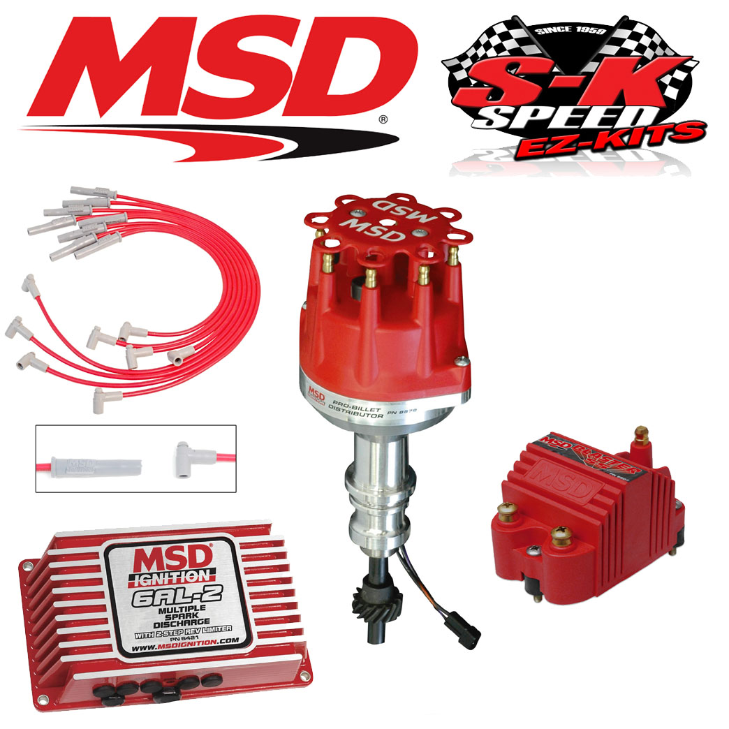 MSD 9174 Ignition Kit 6AL-2 Box/Distributor/Wires/Coil Ford 351C-M/400/429/ 460