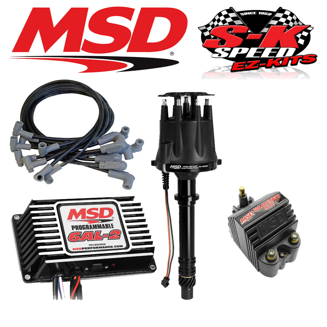 MSD Ignition Kit - Programmable 6AL-2/Distributor/Wires/Coil Small Block  Chevy