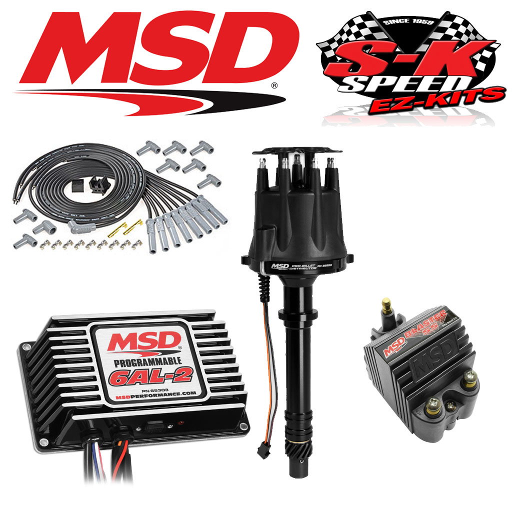 msd 92513 ignition kit programmable 6al 2 distributor wires coil click to close full size