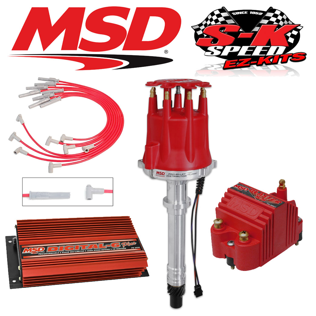 Msd 9501 Ignition Kit Digital 6 Plus Distributor Wires Coil Big Chevy With 6al Wiring Block