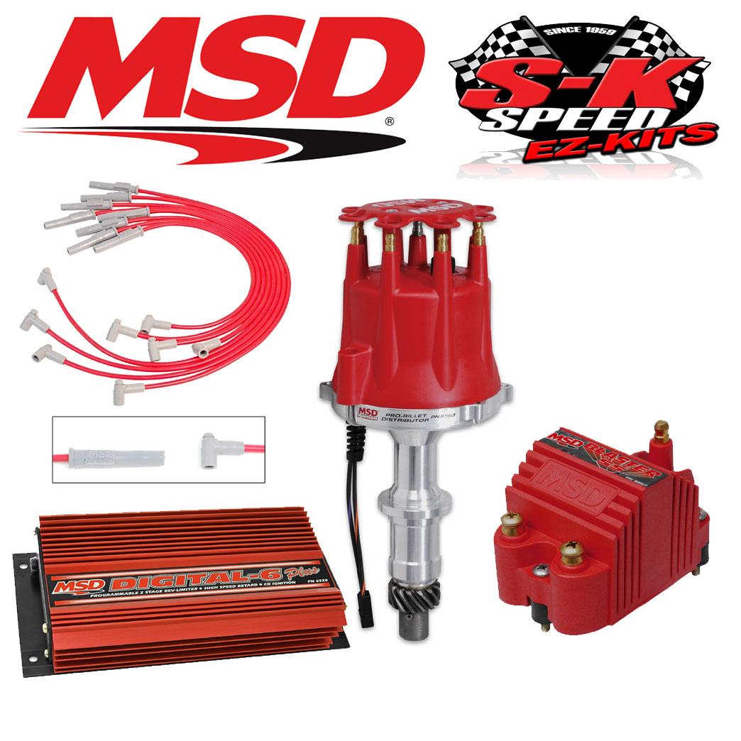 MSD 9506 Ignition Kit - Digital 6 Plus/Distributor/Wires/Blaster Coil  Pontiac V8