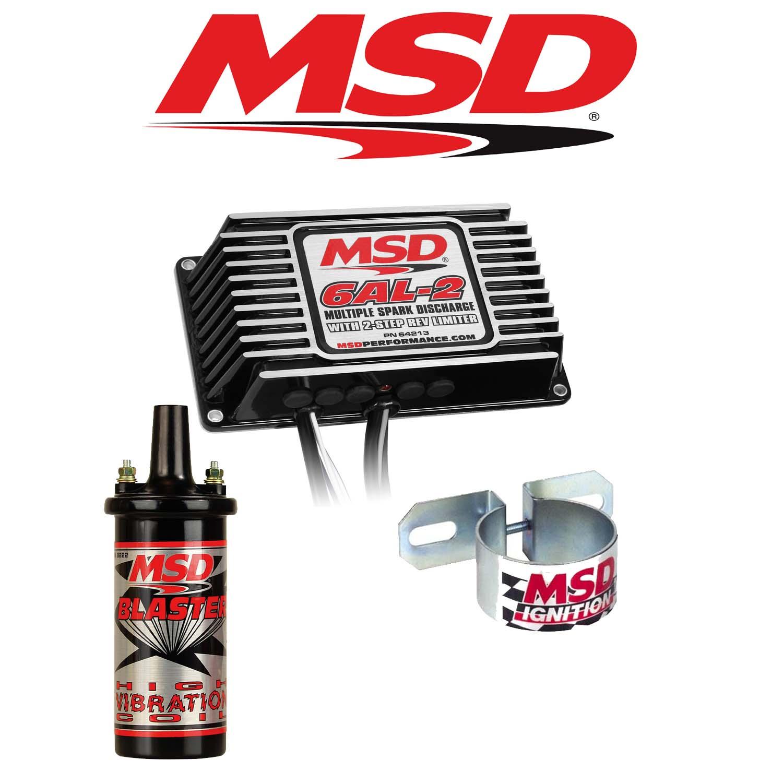 Diagram Msd 99523 Black Ignition Kit Coil U0026 Bracket