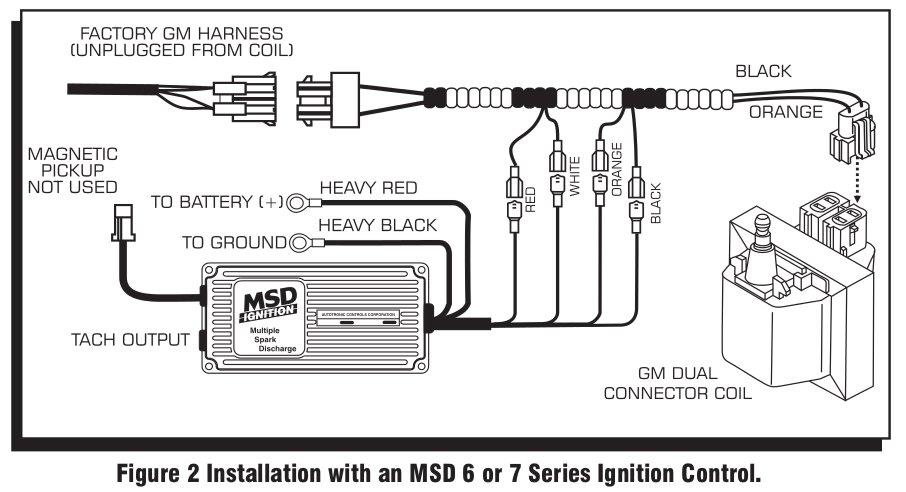 msd 9993 streetfire ignition kit 88-92 camaro/firebird v8 ... msd 6al wire diagram amc 360