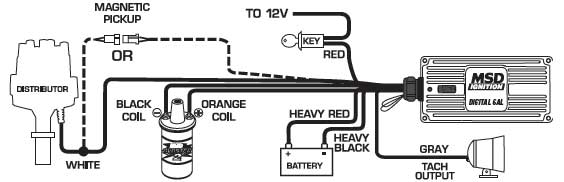 wiringdiagram6425 msd 9114 ignition kit digital 6al distributor wires coil ford 351c Ford Ignition Coil Wiring Diagram at alyssarenee.co