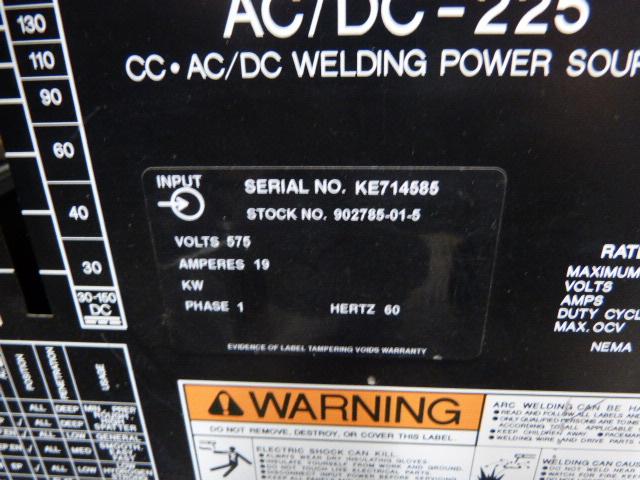 Memco AC/DC-225 575V 19A 60 Hz 1Ph Arc Welder ! WOW !