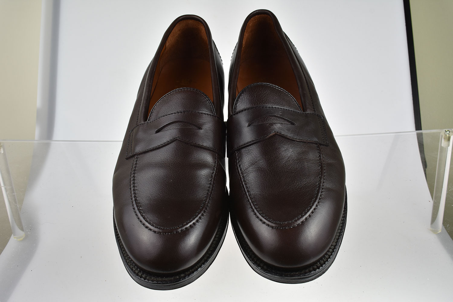c92075a9bb5 ... Picture 2 of 3  Picture 3 of 3. Alden Men s Shoes Flex Welt Penny Loafer