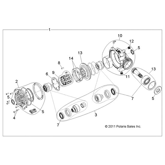 2008 polaris rzr wiring diagram polaris rzr transmission diagram oem front gearcase transmission differential 2011 2012 ... #11