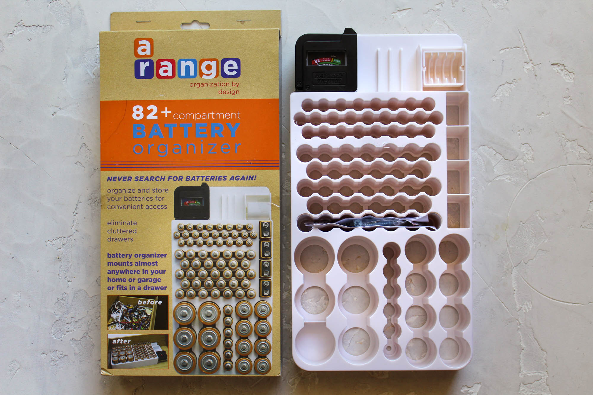 The best battery organizer w battery tester pandoras oem a range battery organizer and tester solutioingenieria Images
