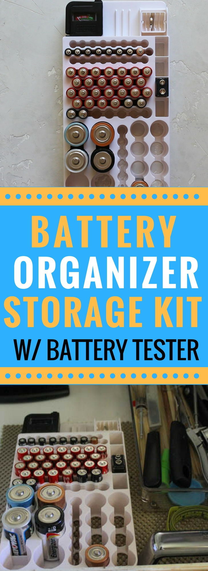 The best battery organizer w battery tester pandoras oem battery organization storage for your drawers organization cabinets battery organizer solutioingenieria Images