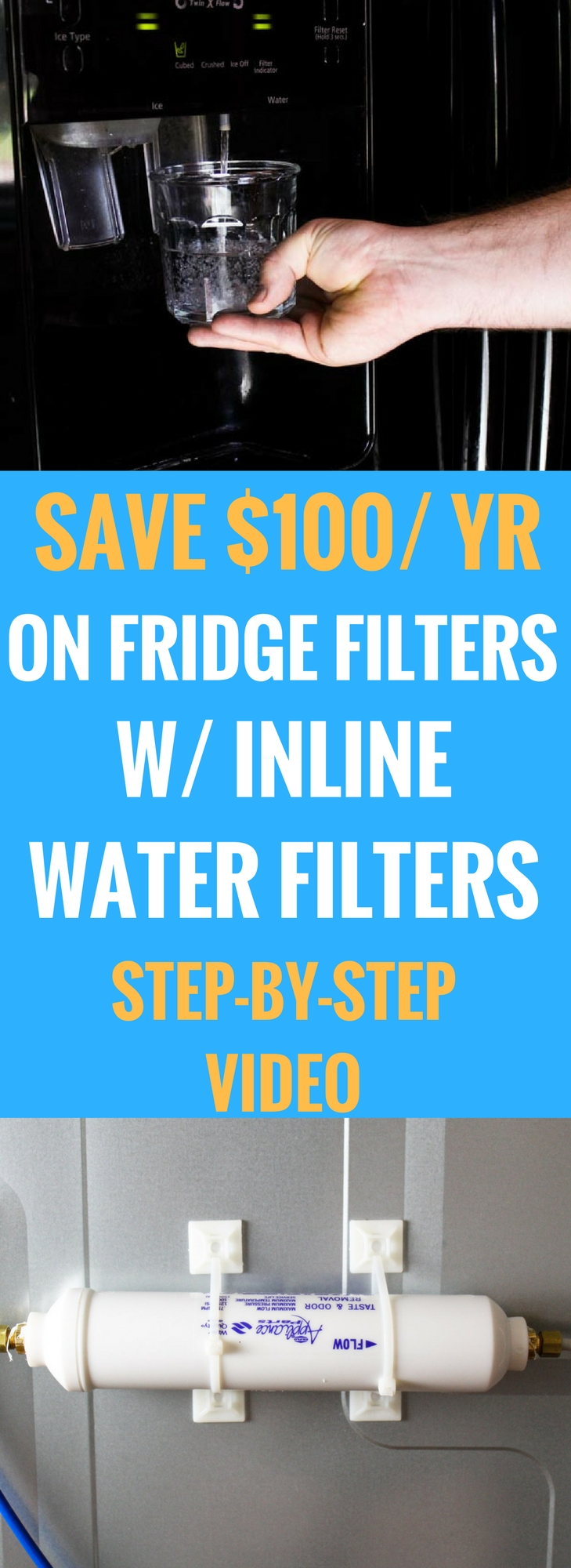 How to install a refrigerator inline water filter and save $100 a year on water filters