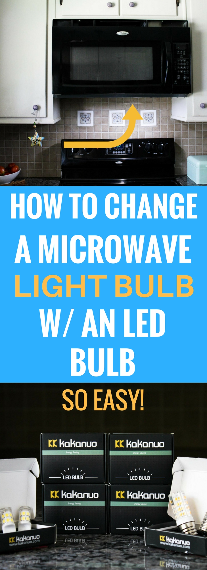 How to replace a microwave light bulb with an LED energy efficient bulb