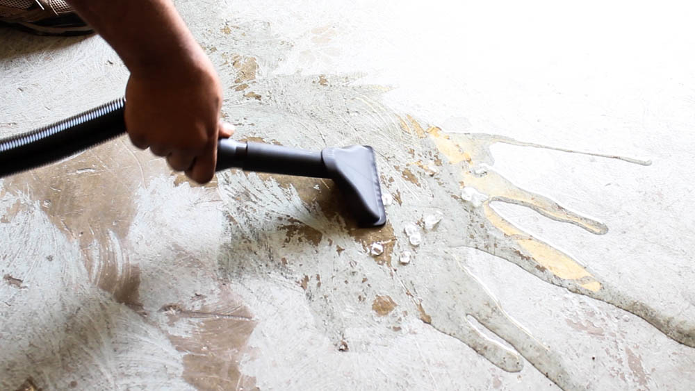 The Milwaukee Wet Dry Vacuum cleans up wet floors in the home, garage, office, and job sites!