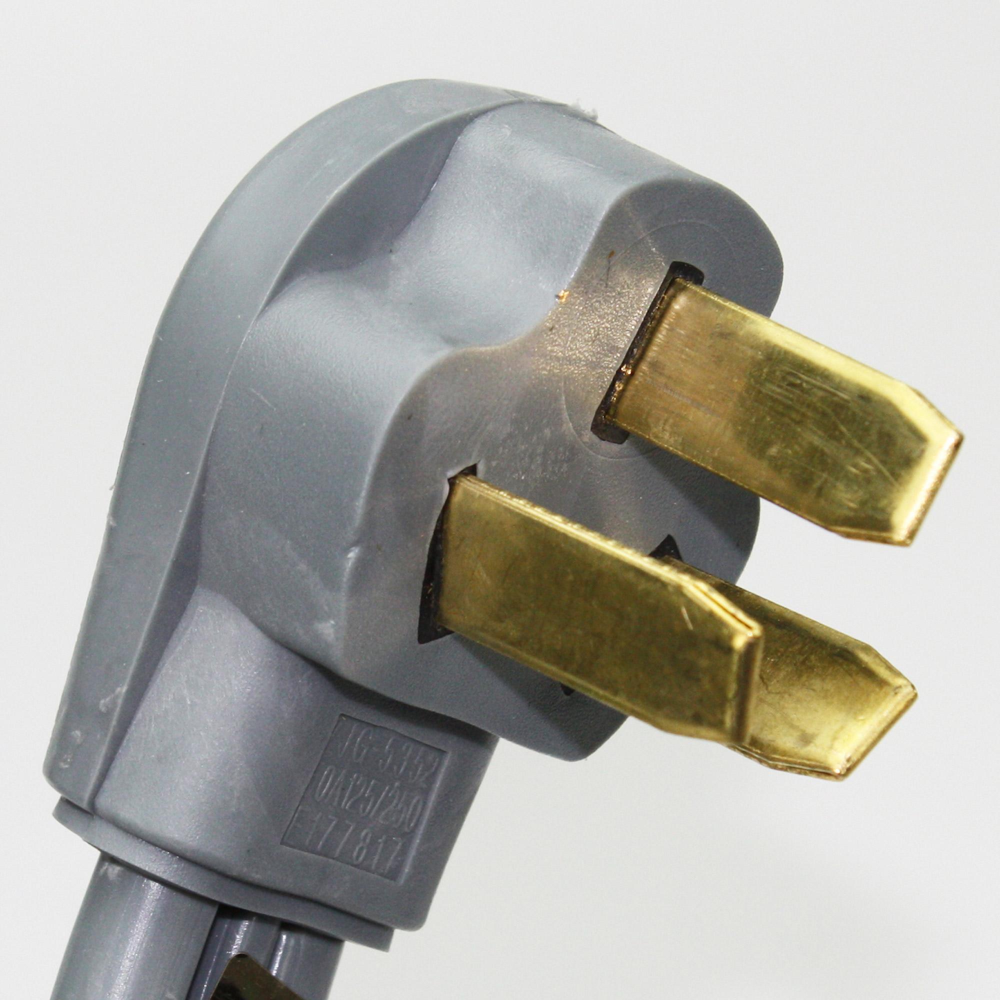 range stove oven power cord 3 wire 5 39 long 50a 220 250v. Black Bedroom Furniture Sets. Home Design Ideas